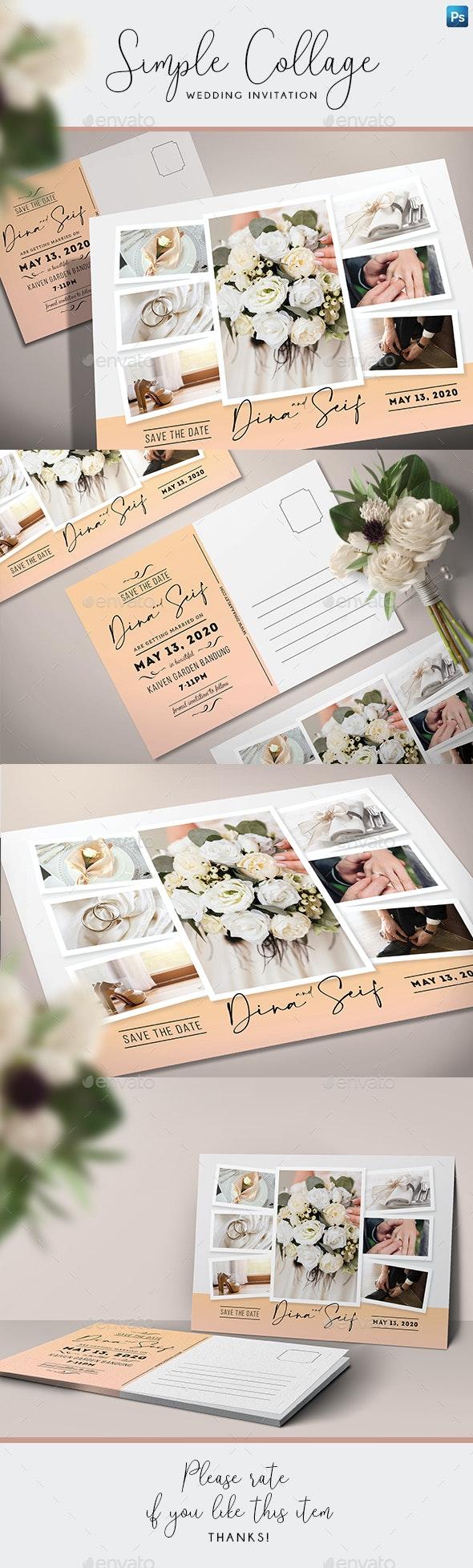 Simple Collage Invitation - Weddings Cards & Invites