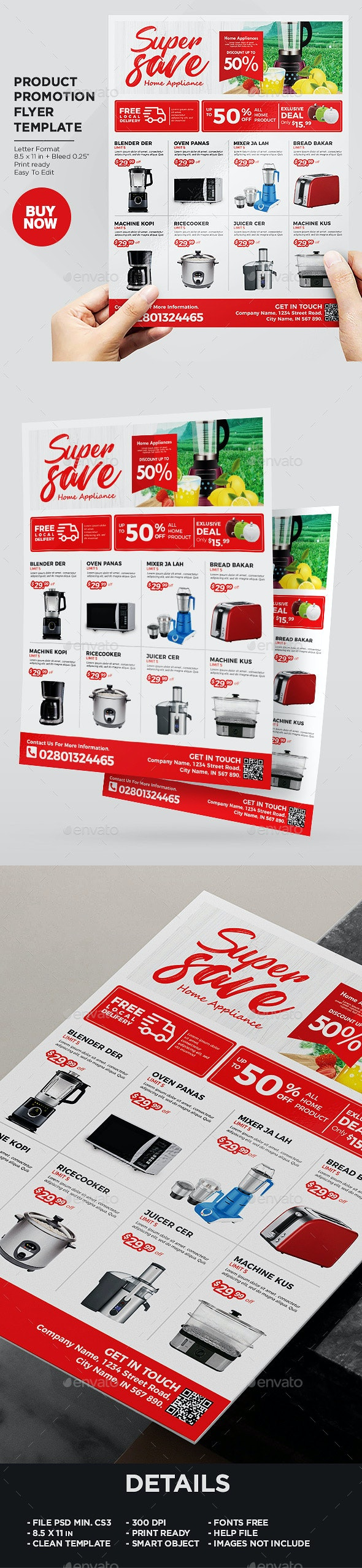 Home Appliances Product Promotion Flyer - Corporate Flyers