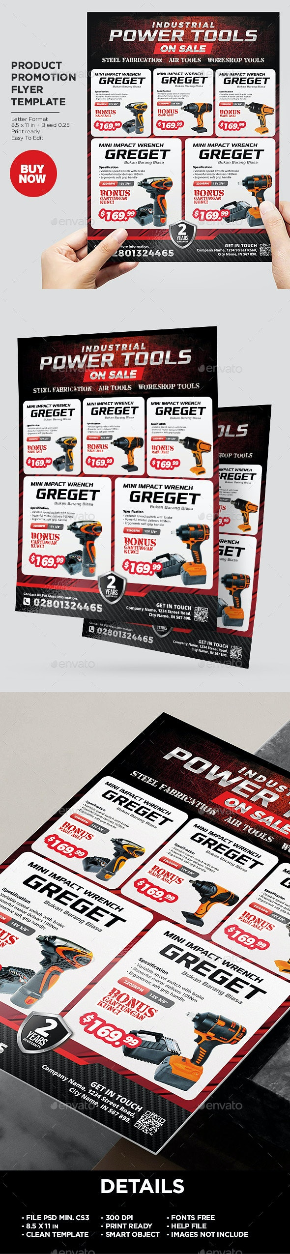 Industrial Power Tools Product Flyer Template - Commerce Flyers