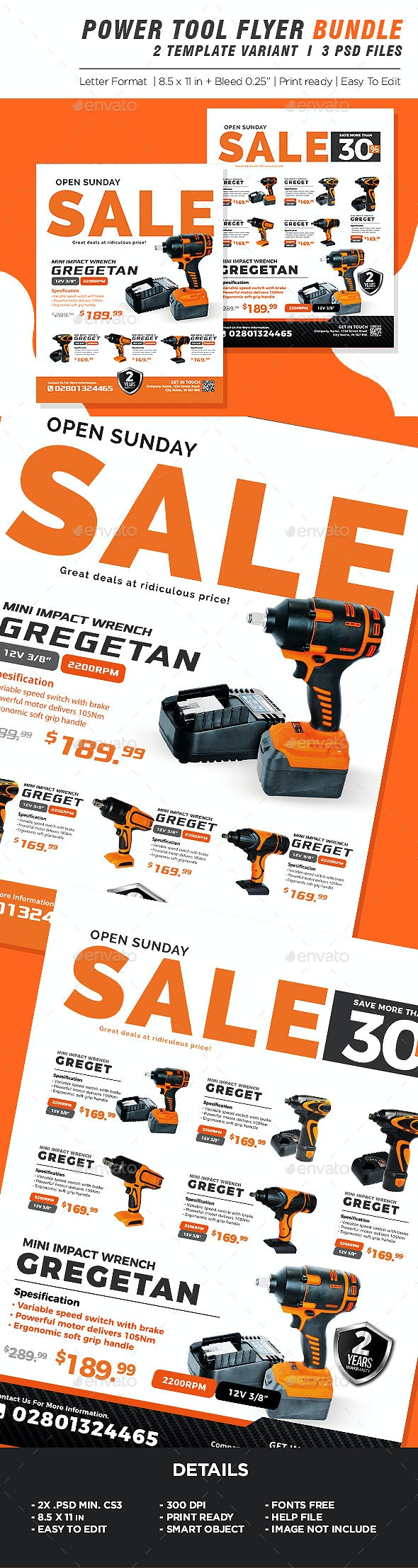Power Tools Catalog Product Flyer Bundle - Corporate Flyers