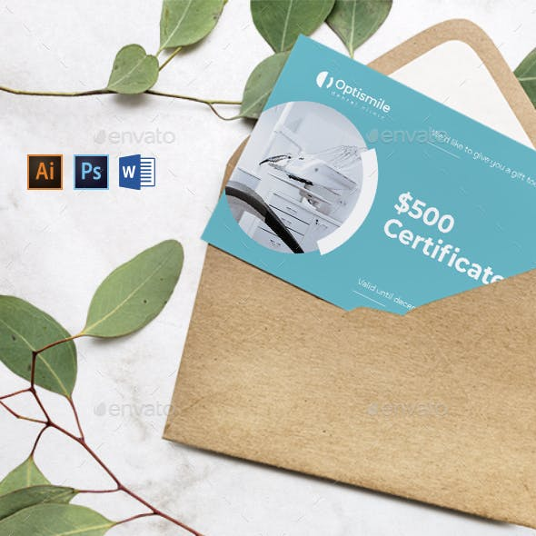 Dental Clinic Gift Certificate