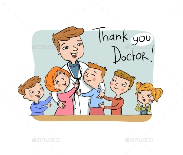 Thank You Doctor Greeting Card - Health/Medicine Conceptual