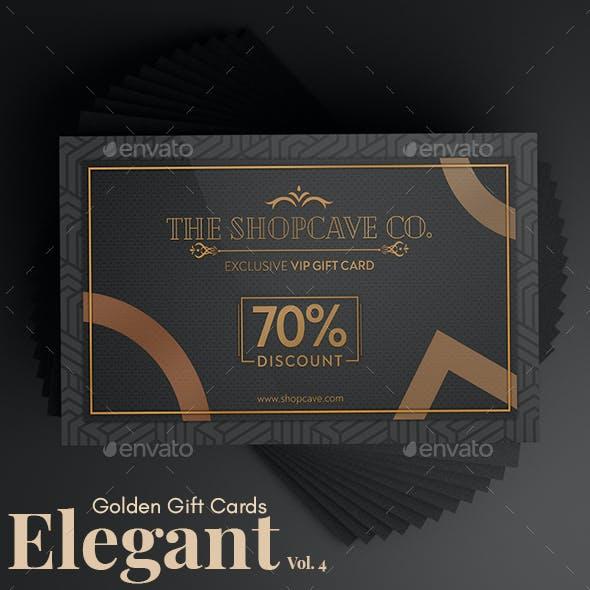 Elegant Golden Gift Cards Vol. 4