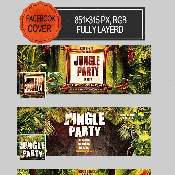 Jungle Party Facebook Covers