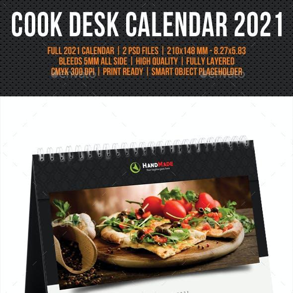 Cook And Food Desk Calendar 2021 V02