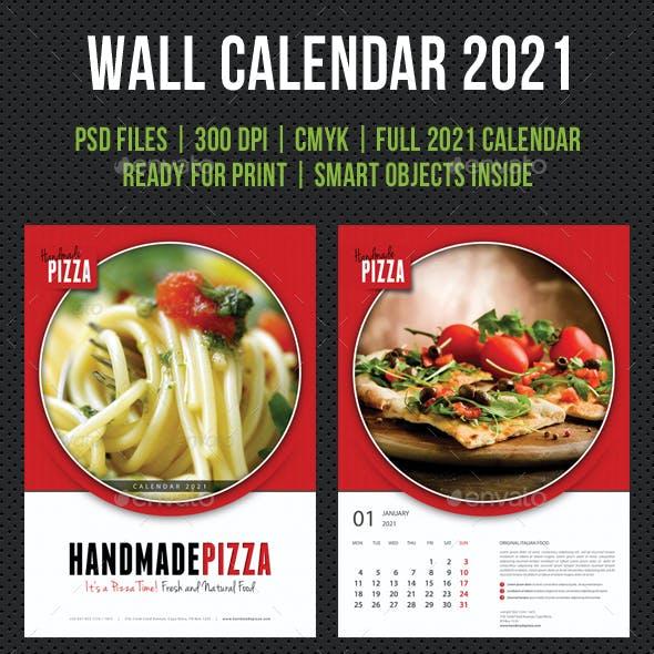 Cook And Food Wall Calendar 2021