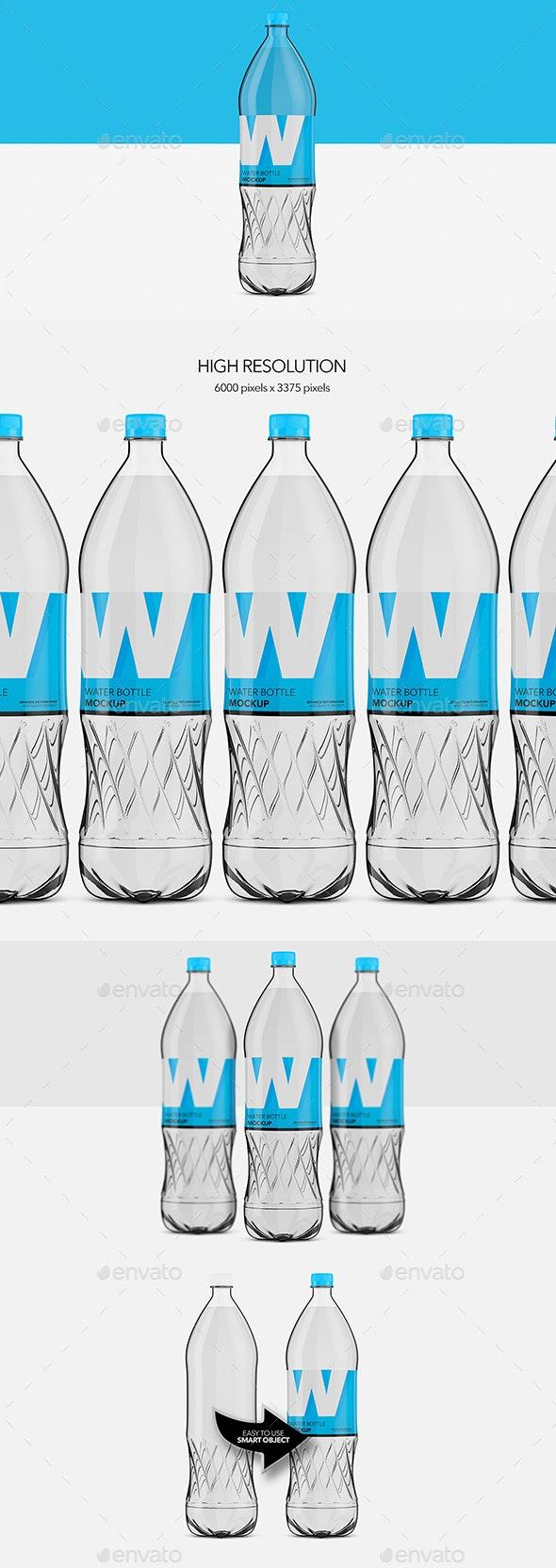 Water Bottle Pet - Mockup - Food and Drink Packaging