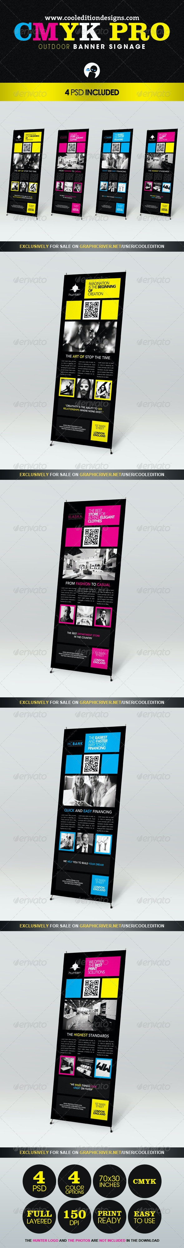 CMYK Pro - Outdoor Banner Signage - Signage Print Templates