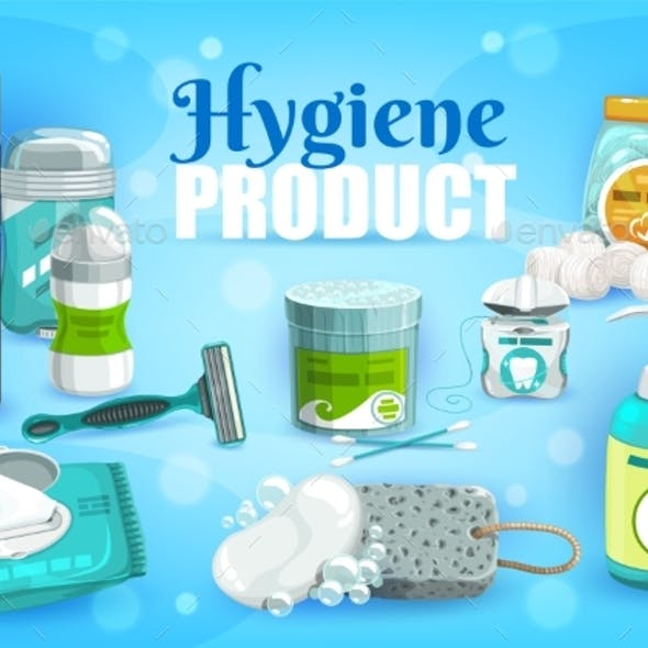 Hygiene Products Man and Woman Personal Care