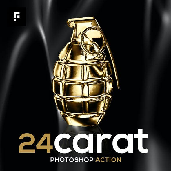 24 Carat Photoshop Action