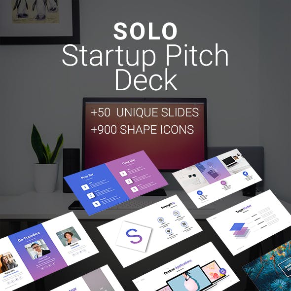 SOLO Startup Pitch Deck Template (PPTX)