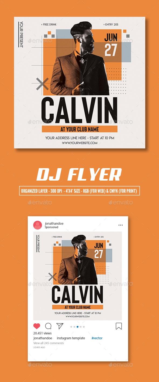 Minimal DJ Flyer Template - Clubs & Parties Events