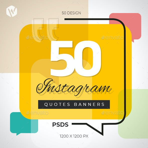 50 Instagram Quotes Banners