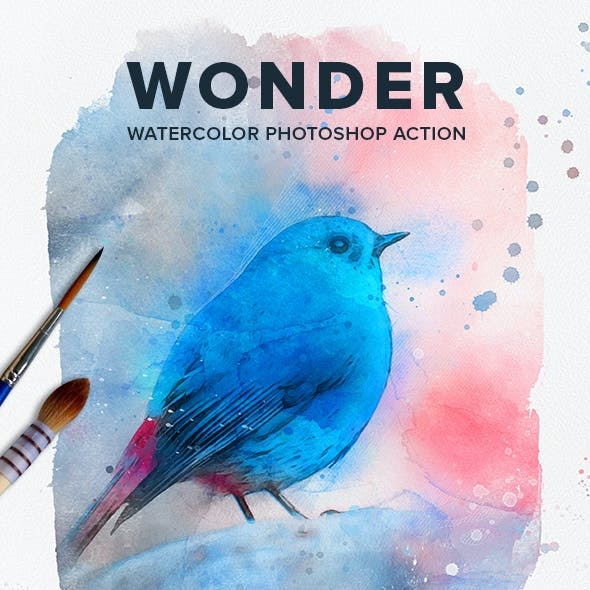 Wonder Watercolor Photoshop Action