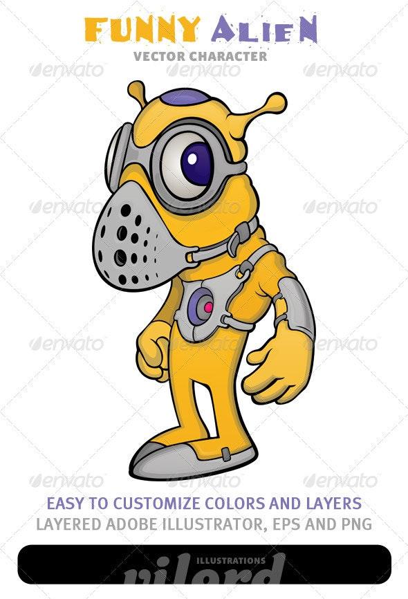 Alien Mascot - Characters Vectors