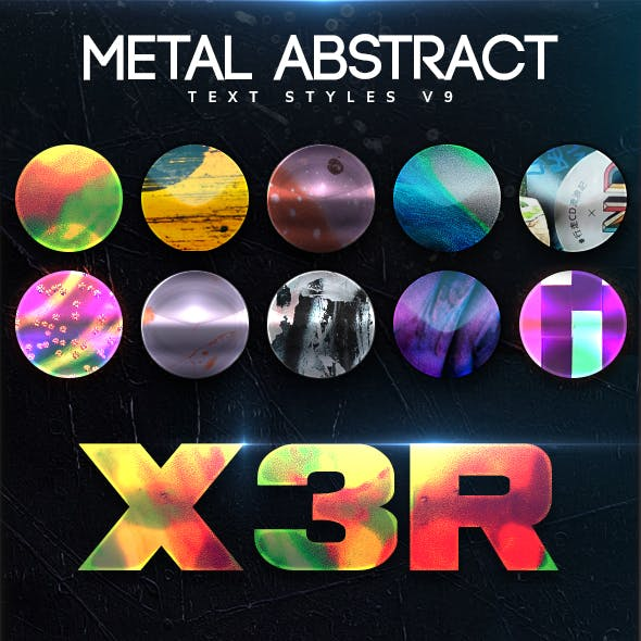 Metal Abstract Text Styles V9