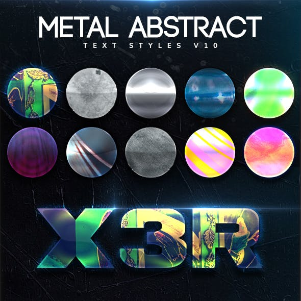 Metal Abstract Text Styles V10