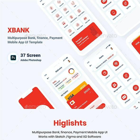 Multipurpose Banking Wallet Mobile App UI Template