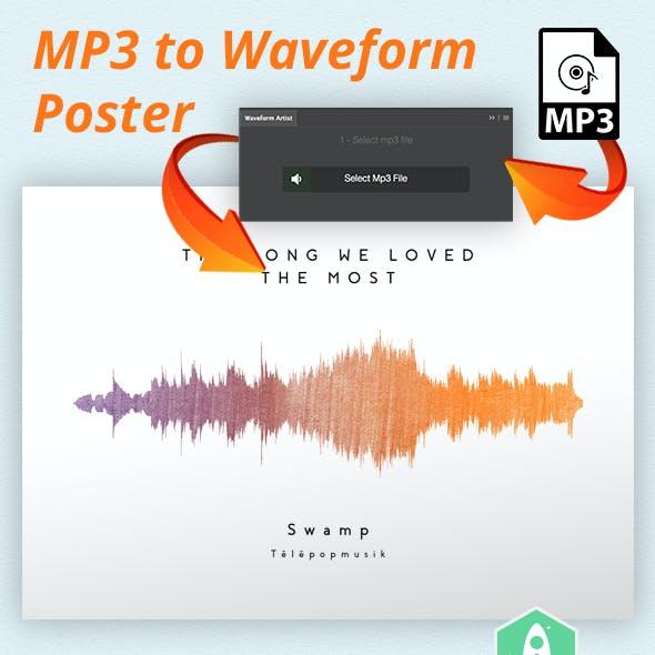 Waveform Artist - MP3 to Waveform Poster