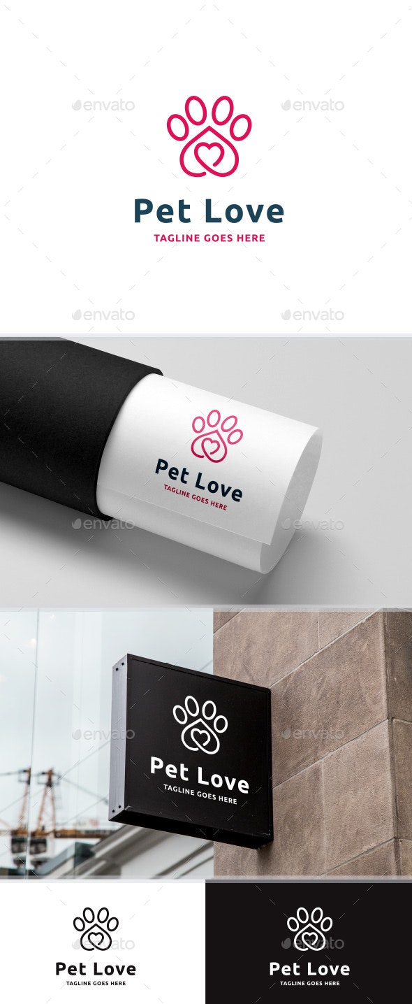 Pet Love Logo - Animals Logo Templates