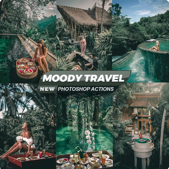 Moody Travel Blogger Photoshop Actions