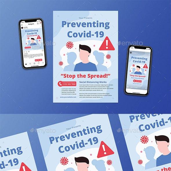 Preventing Covid-19 Flyer Set