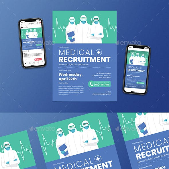 Medical Recruitment Flyer Set