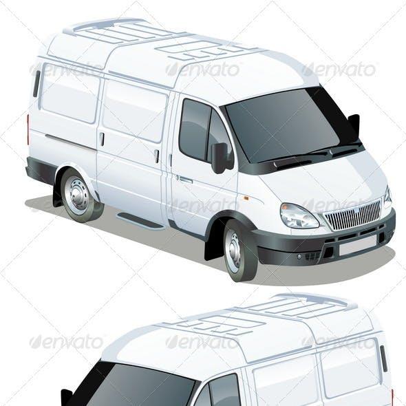 Delivery Van Isometric Set
