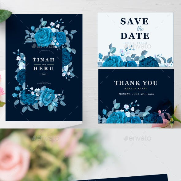 Wedding Invitation Template with Maroon Floral and Leaves