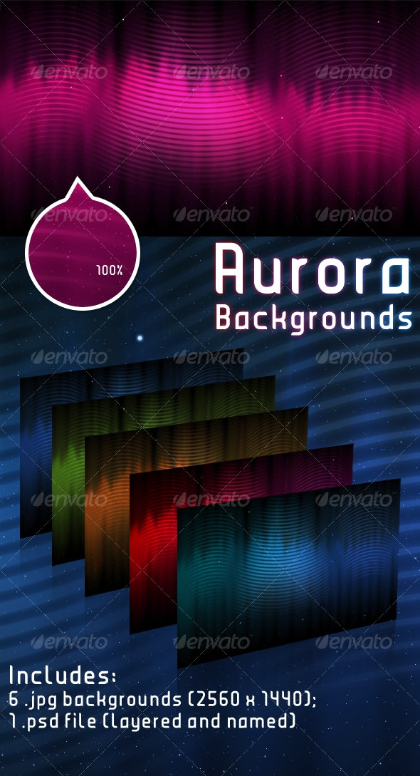 Aurora Background - Backgrounds Graphics