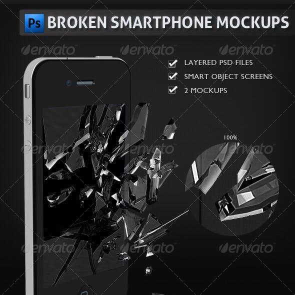 Broken Smartphone Mockups