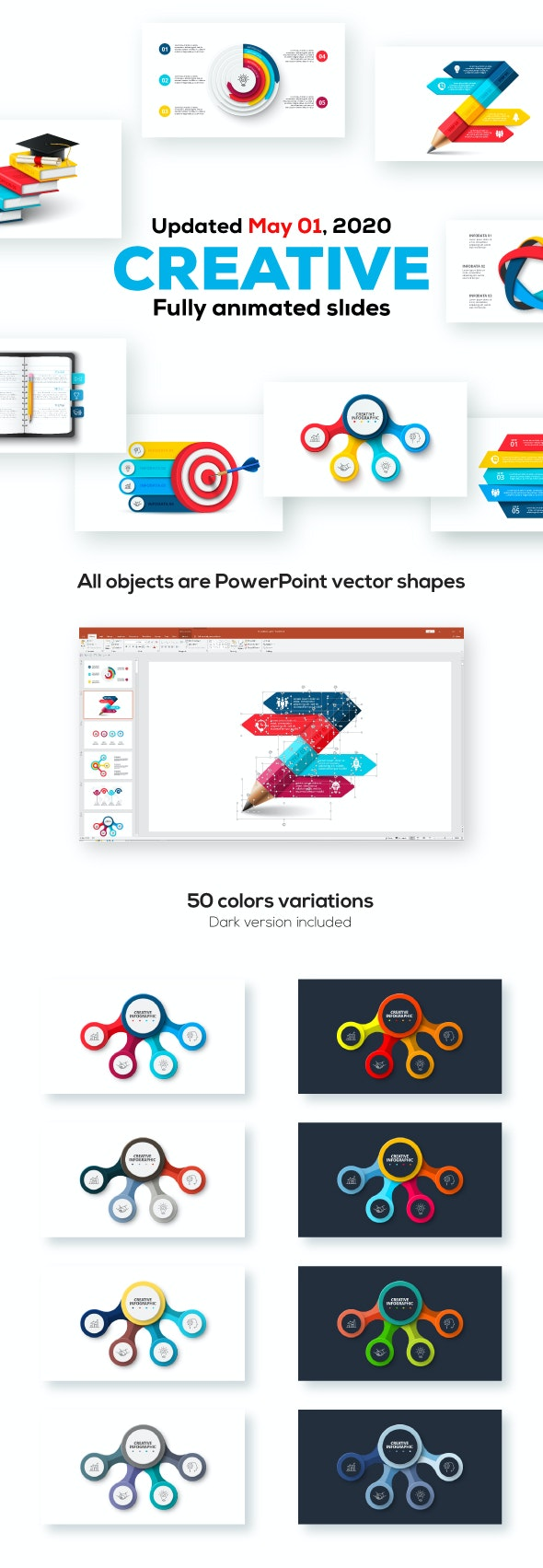 Creative Animated Infographic Presentations v.1.2 - Abstract PowerPoint Templates