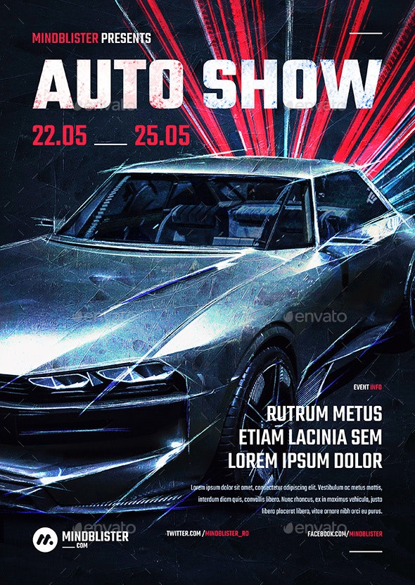 Auto Show Flyer/Poster - Events Flyers