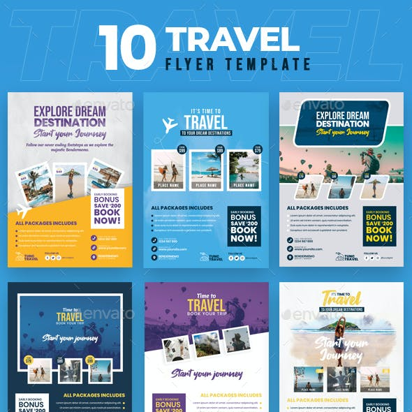 Travel 10 Flyer Template
