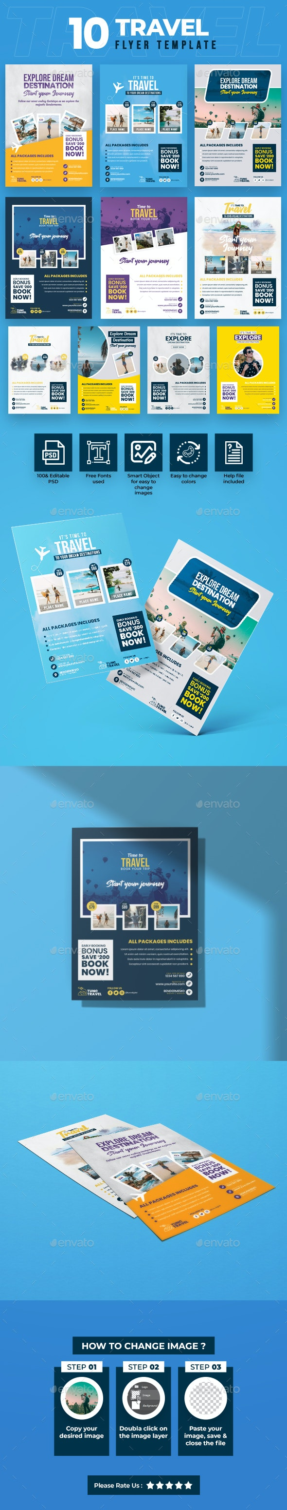 Travel 10 Flyer Template - Holidays Events