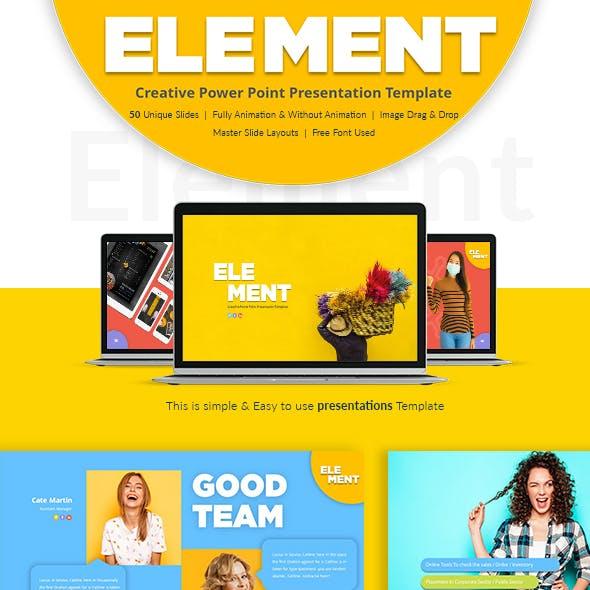 Element Power Point Presentation Template