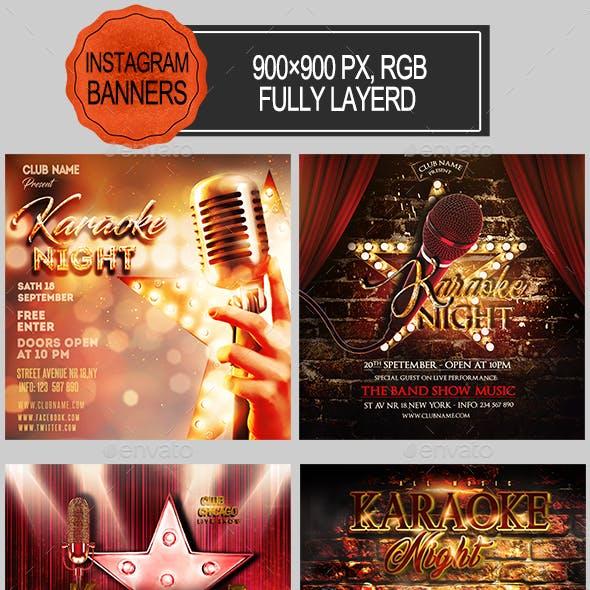 Karaoke Night Instagram Banners