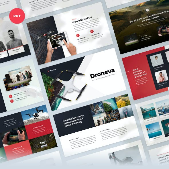 Drone & Aerial Photography Powerpoint Presentation Templates