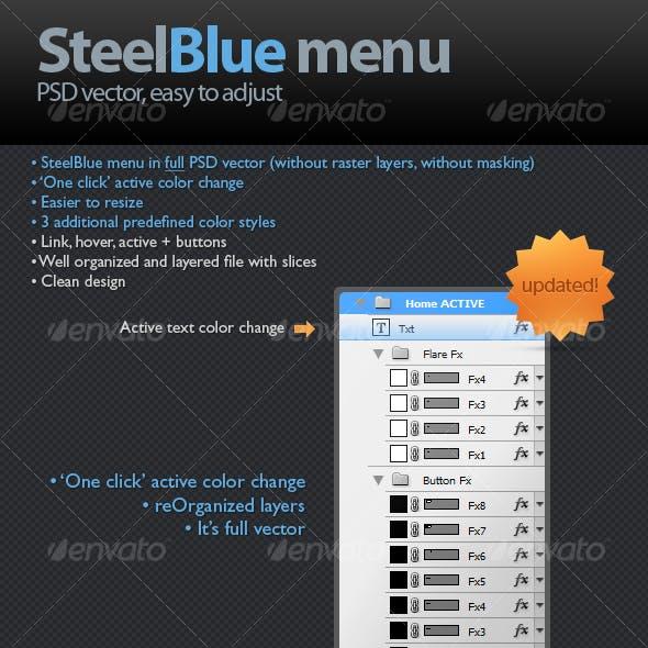 SteelBlue menu