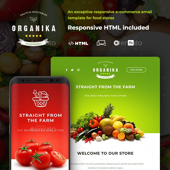 Organika - Food Store E-newsletter Template