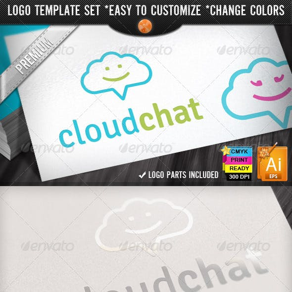 Social Media Application Chat Cloud Internet Logo