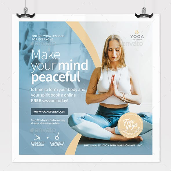 Yoga Online Class Flyer