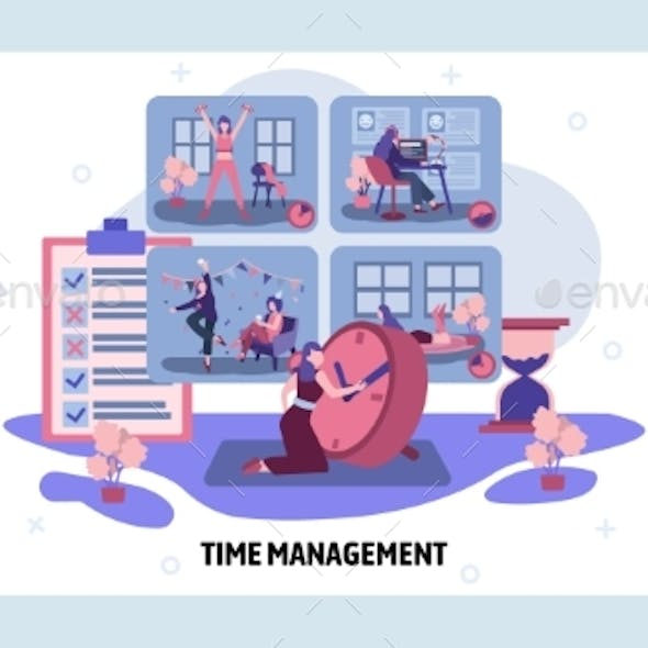 Time Management and Day Activity Schedule Concept