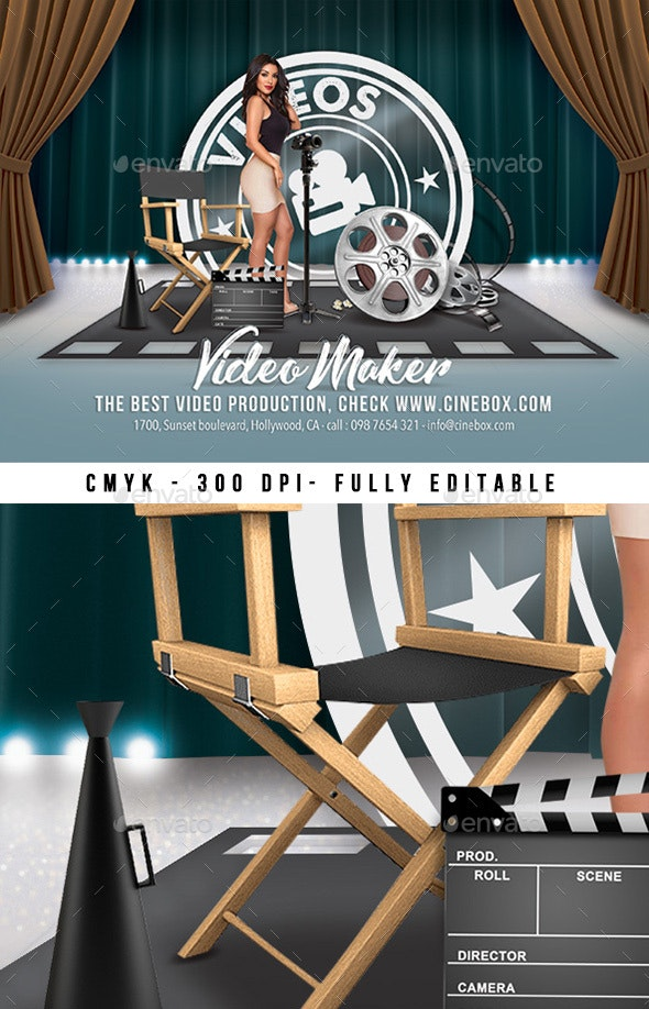 Movie Studio Video Production Flyer - Events Flyers