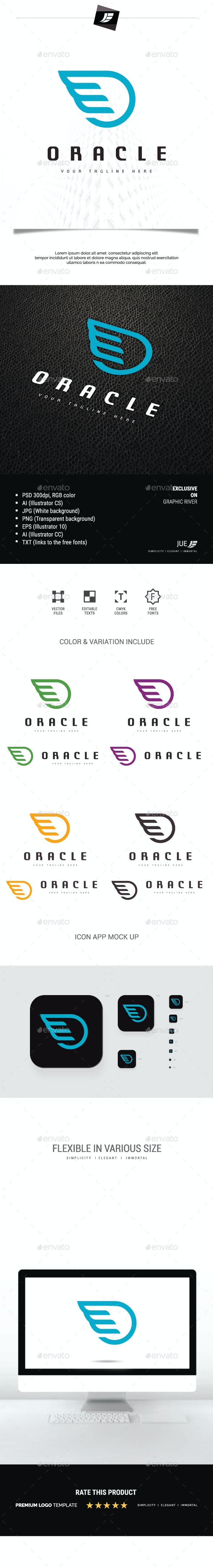 Letter O Wing Oracle Logo - Symbols Logo Templates