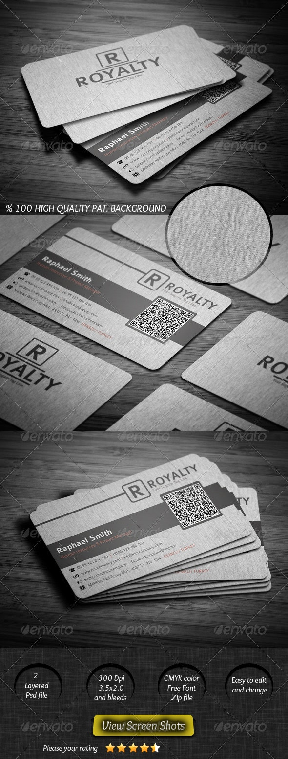 Canvas Business Card - Corporate Business Cards