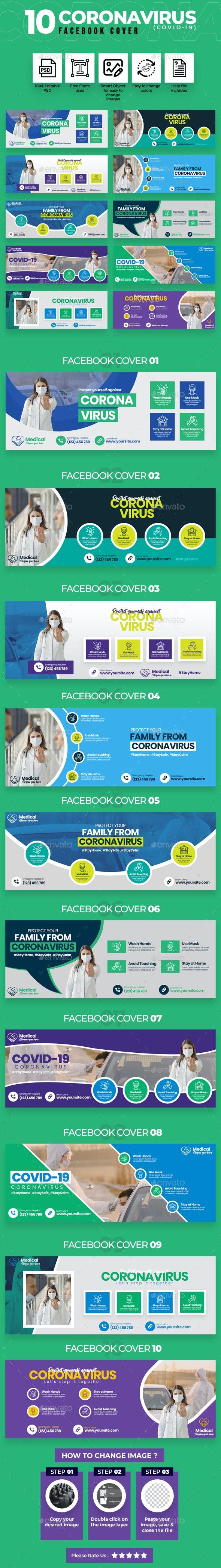 Covid-19 & Coronavirus 10 Facebook Cover - Facebook Timeline Covers Social Media