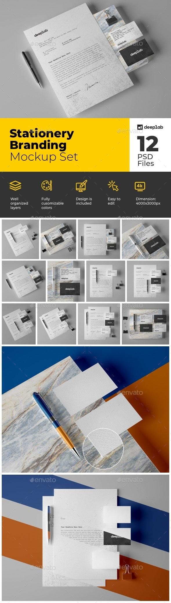Stationery Branding Mockup Set - Product Mock-Ups Graphics