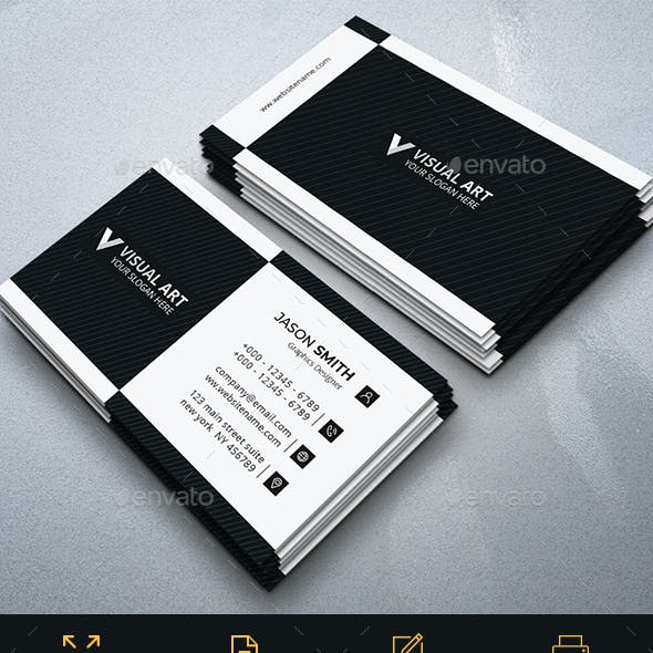 Black And White Modern Business Card