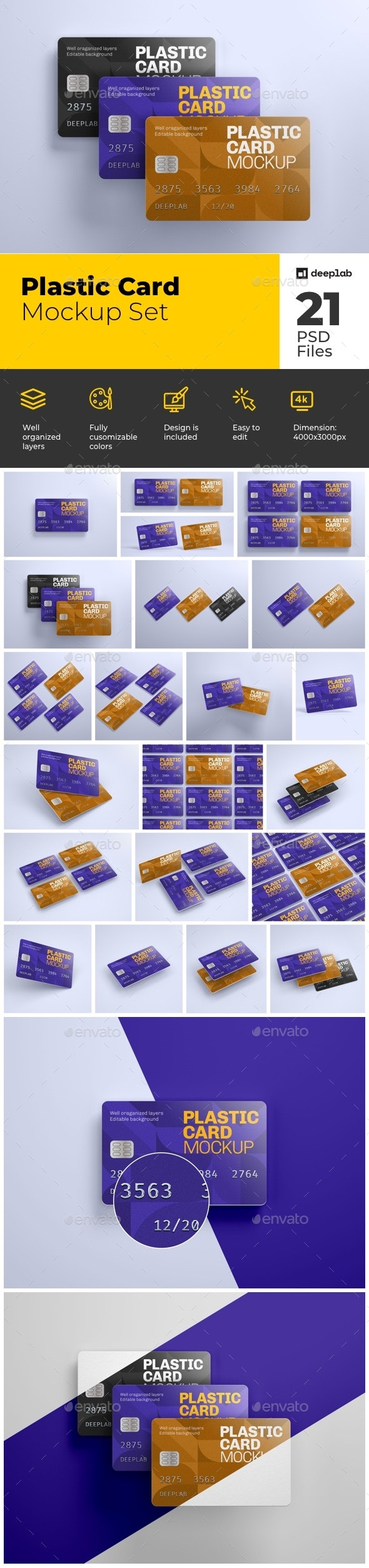 Plastic Card Mockup Set - Product Mock-Ups Graphics